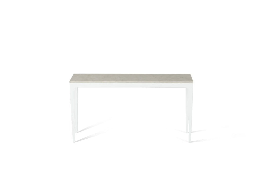 London Grey Slim Console Table Pearl White