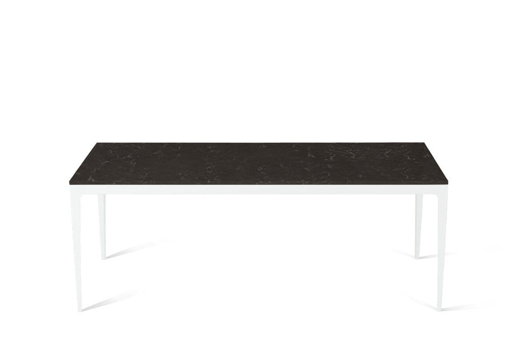 Piatra Grey Long Dining Table Pearl White