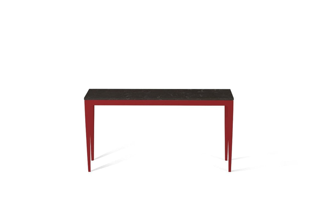 Piatra Grey Slim Console Table Flame Red