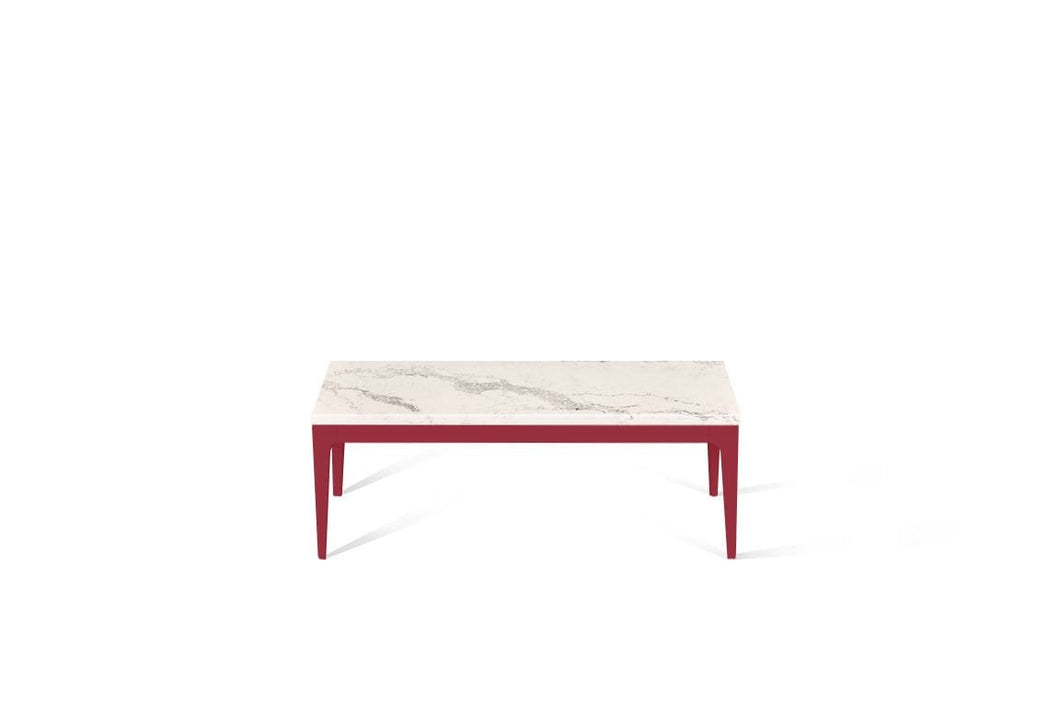 Statuario Maximus Coffee Table Flame Red