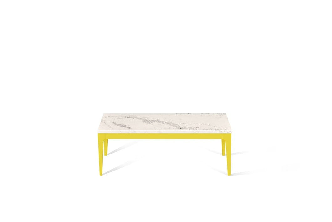 Statuario Maximus Coffee Table Lemon Yellow