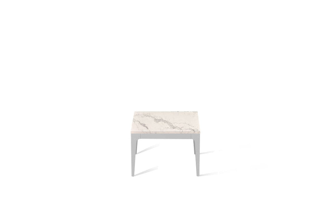 Statuario Maximus Cube Side Table Oyster