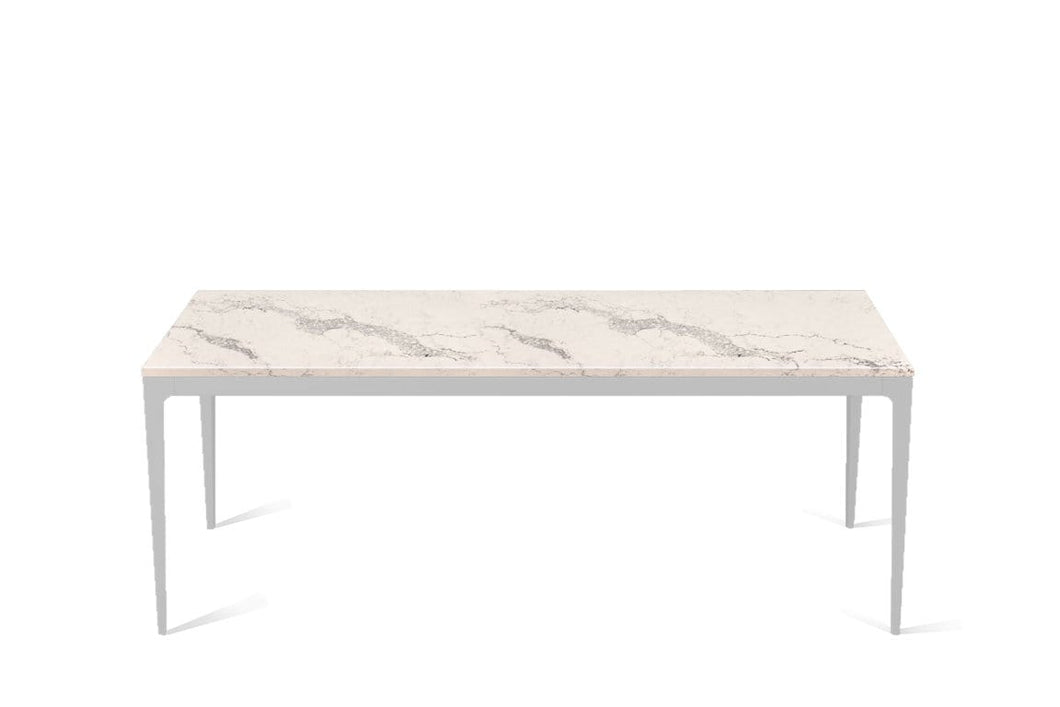 Statuario Maximus Long Dining Table Oyster