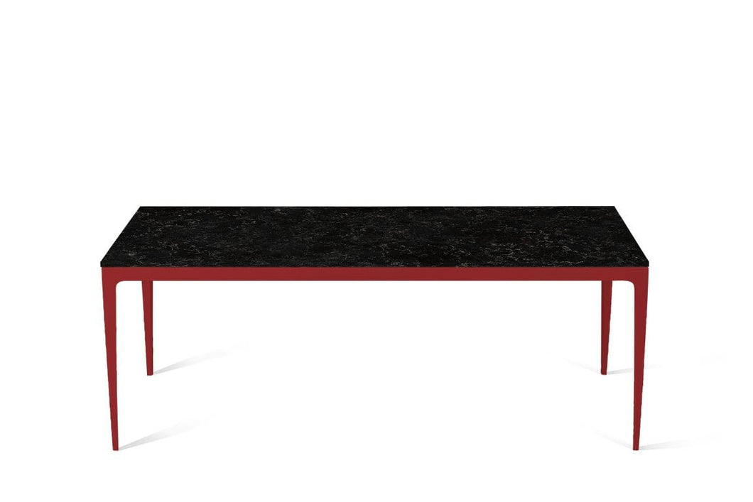 Vanilla Noir Long Dining Table Flame Red
