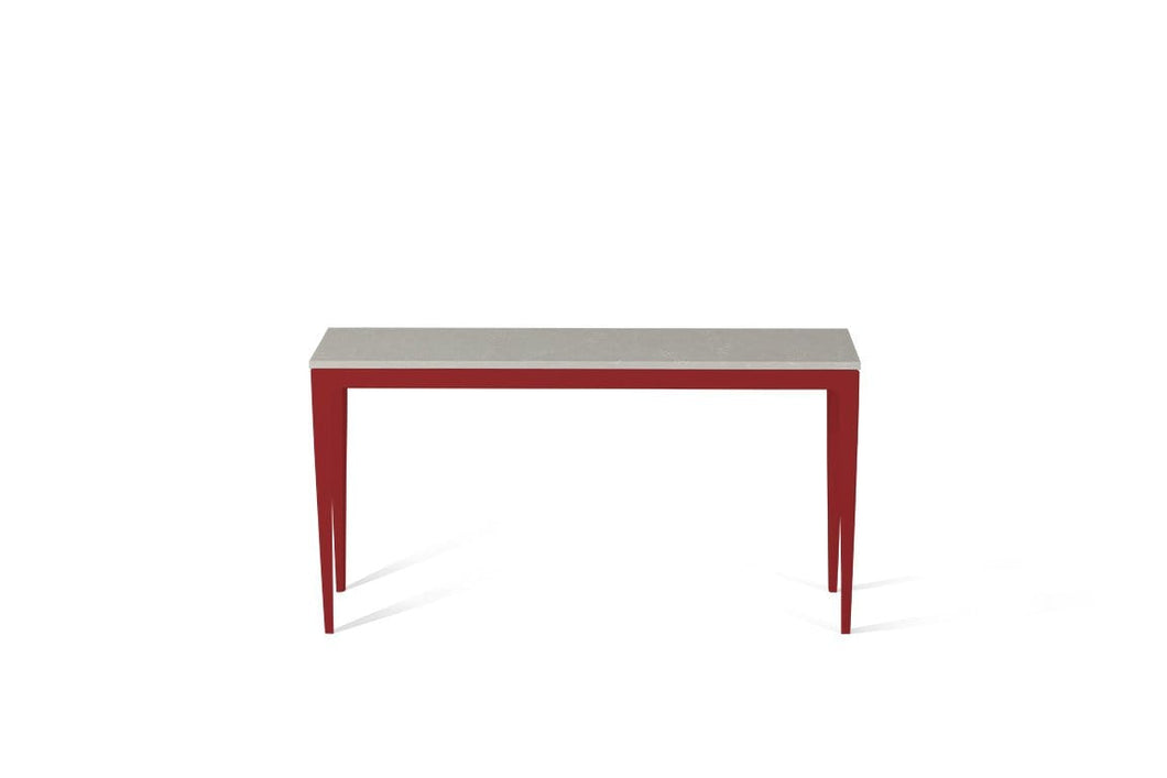 Alpine Mist Slim Console Table Flame Red