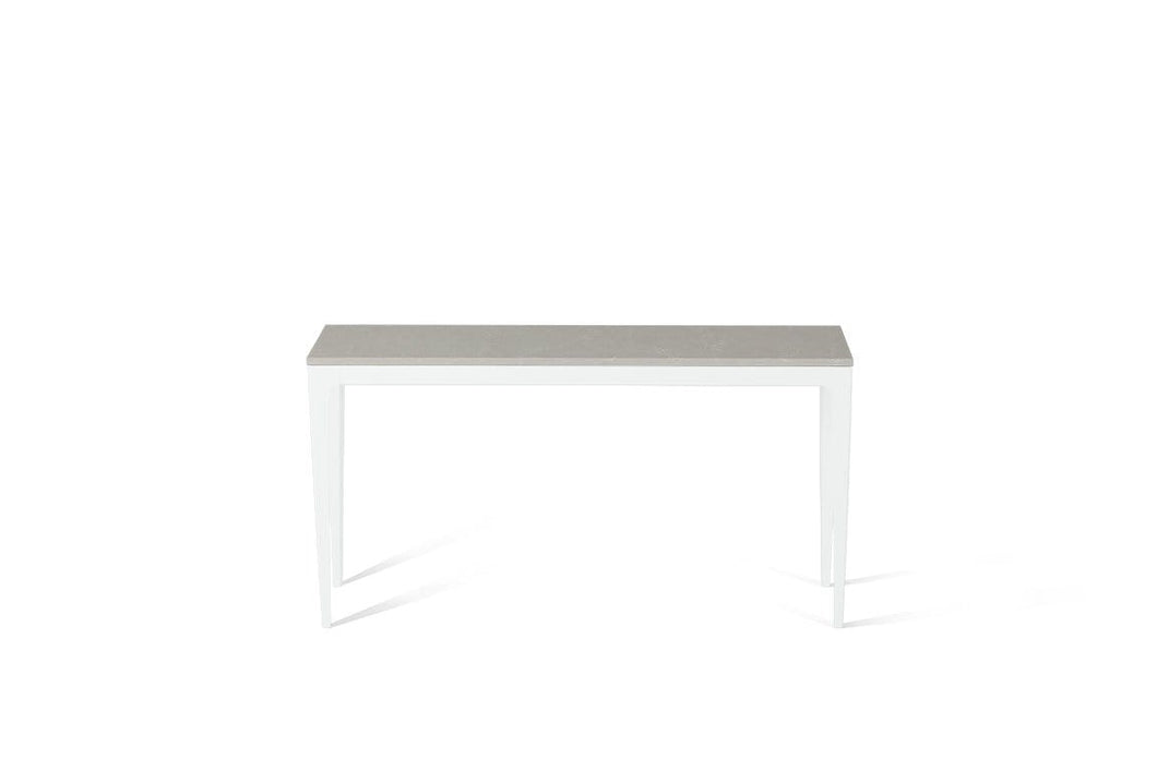 Alpine Mist Slim Console Table Pearl White
