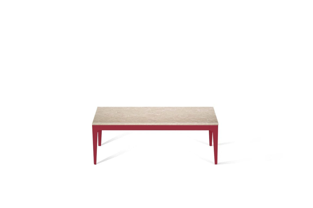 Cosmopolitan White Coffee Table Flame Red