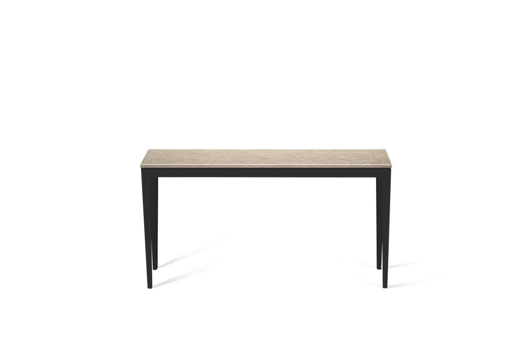 Cosmopolitan White Slim Console Table Matte Black