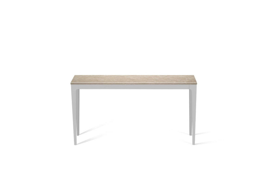 Cosmopolitan White Slim Console Table Oyster