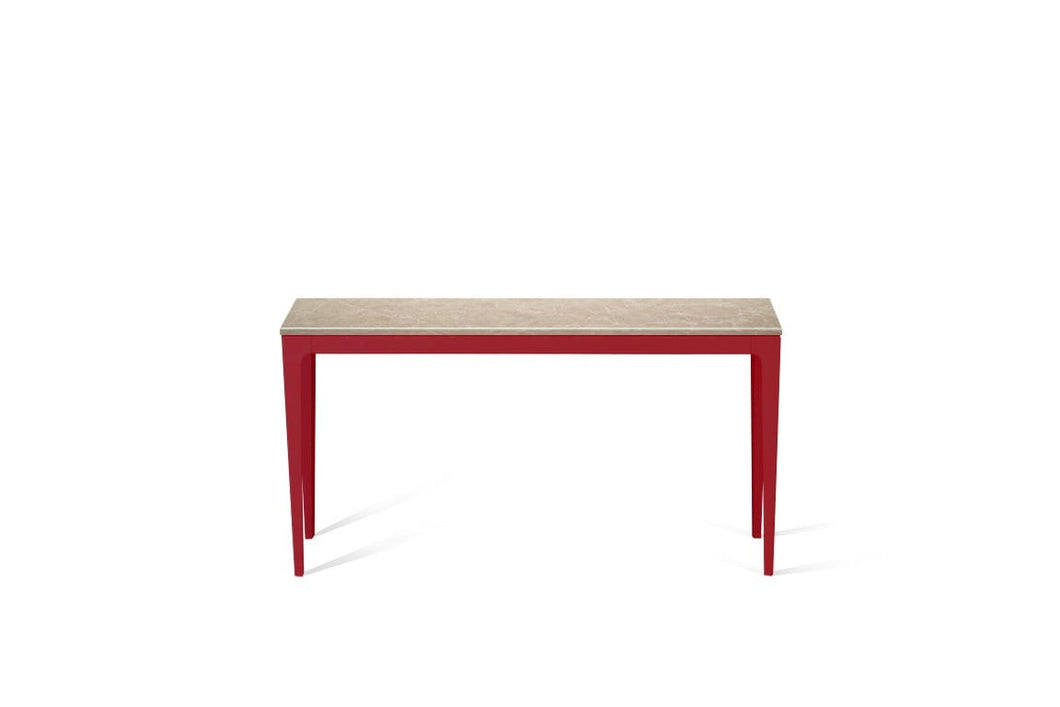 Cosmopolitan White Slim Console Table Flame Red