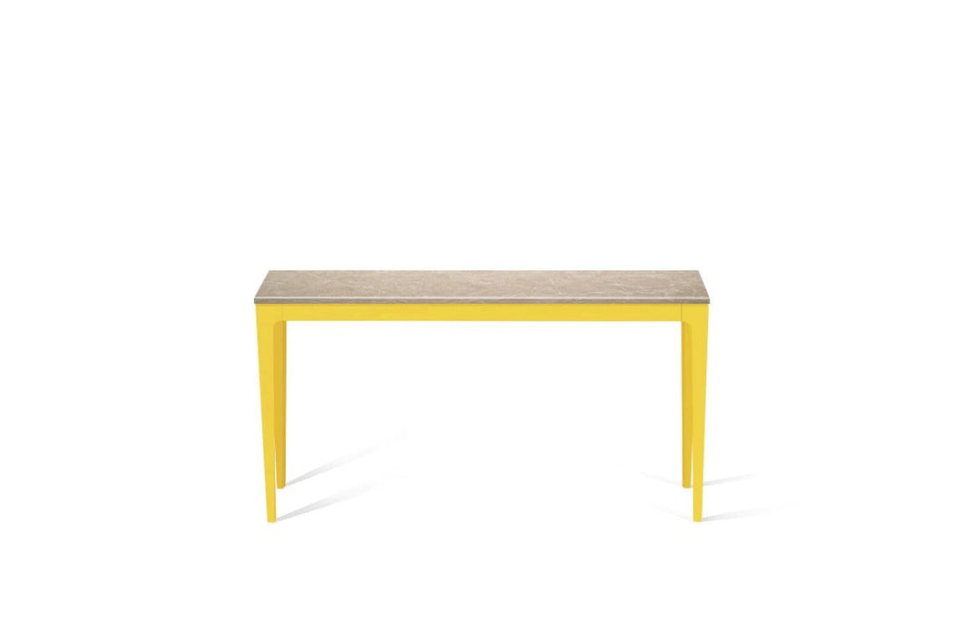 Cosmopolitan White Slim Console Table Lemon Yellow