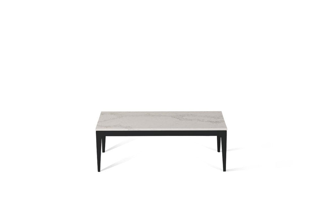 Calacatta Nuvo Coffee Table Matte Black