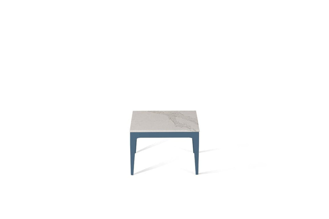 Calacatta Nuvo Cube Side Table Wedgewood