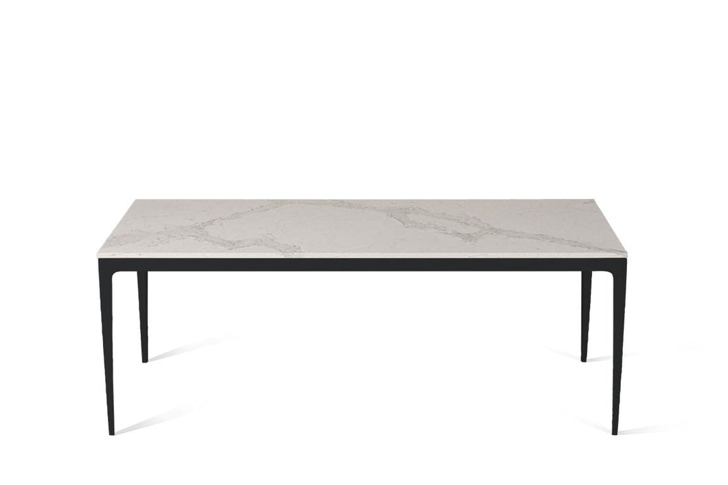 Calacatta Nuvo Long Dining Table Matte Black