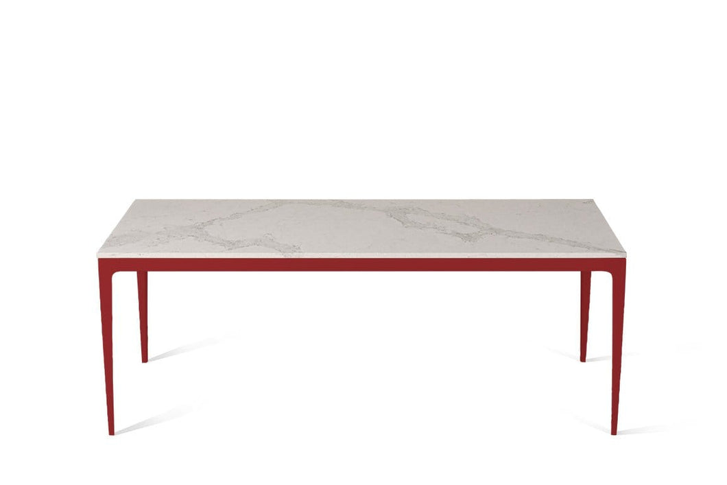 Calacatta Nuvo Long Dining Table Flame Red