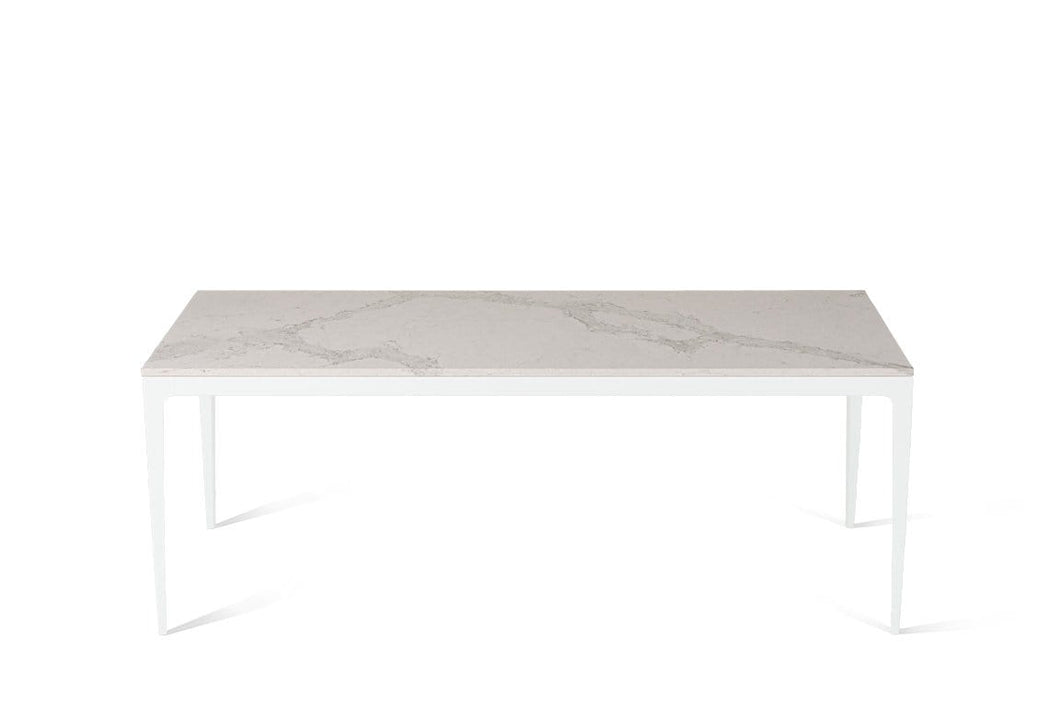 Calacatta Nuvo Long Dining Table Pearl White