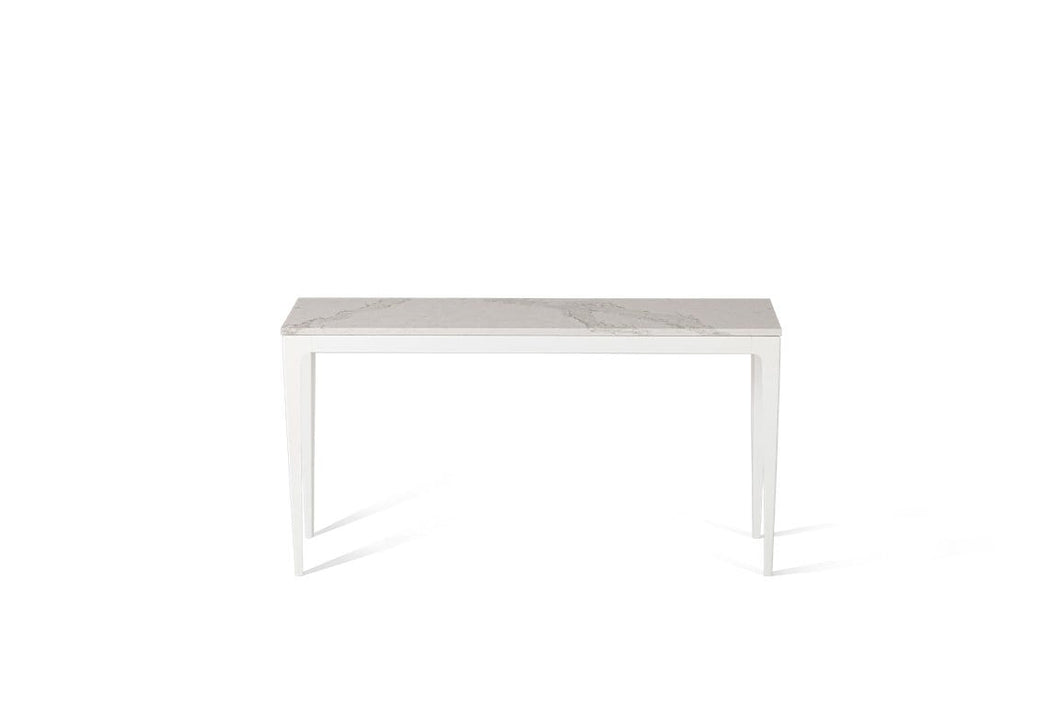Calacatta Nuvo Slim Console Table Oyster