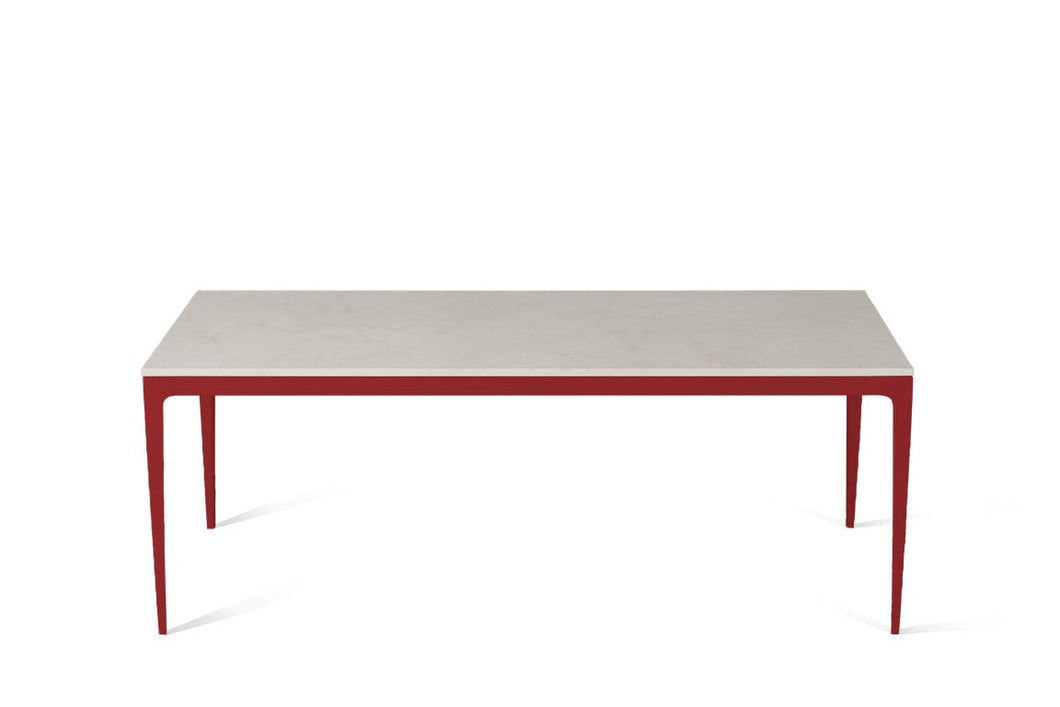 Frosty Carrina Long Dining Table Flame Red