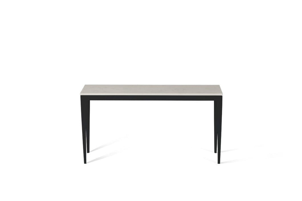 Frosty Carrina Slim Console Table Matte Black