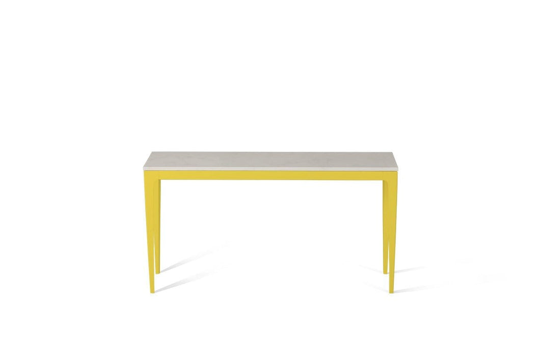 Frosty Carrina Slim Console Table Lemon Yellow