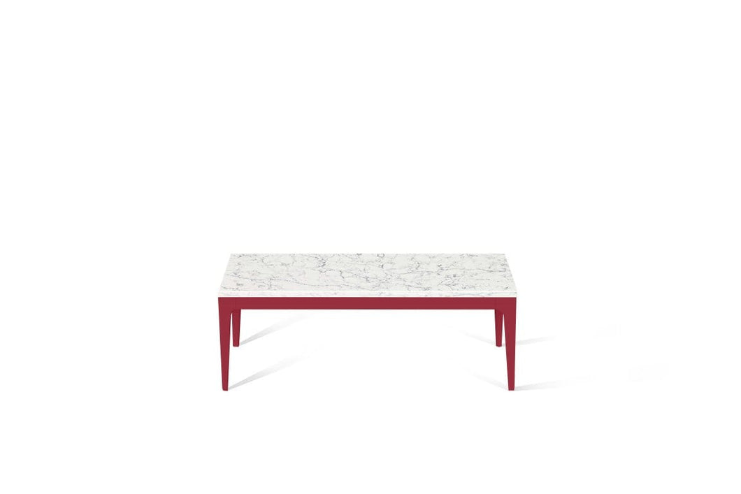 White Attica Coffee Table Flame Red