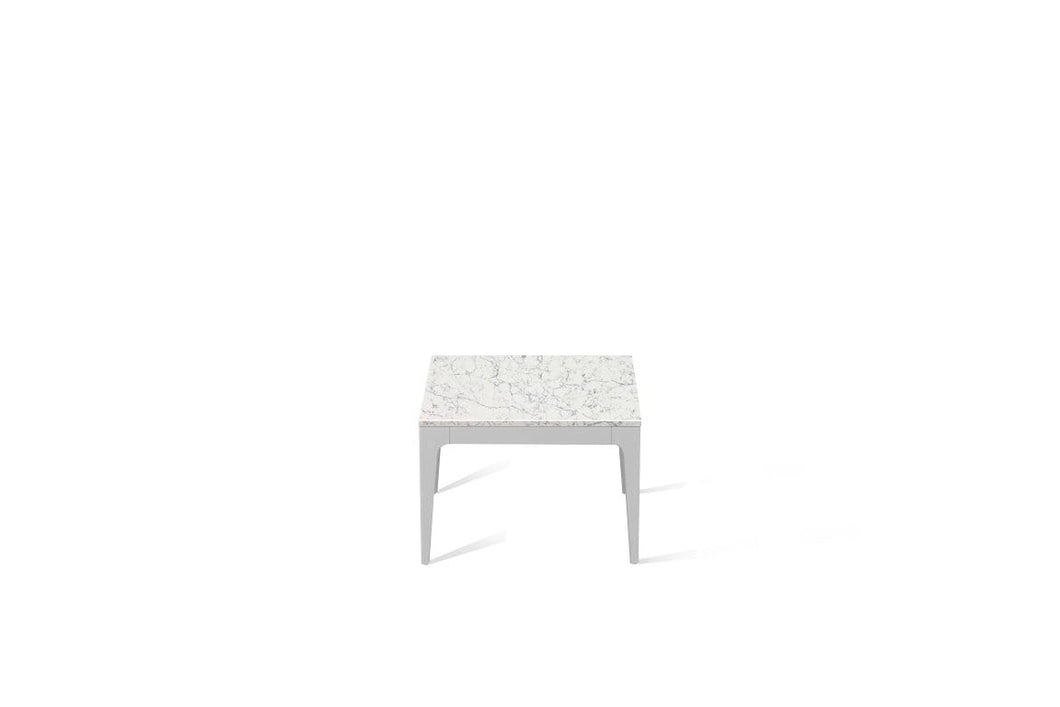 White Attica Cube Side Table Oyster