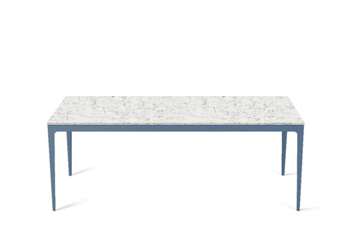 White Attica Long Dining Table Wedgewood