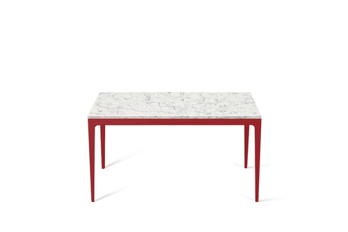 White Attica Standard Dining Table Flame Red