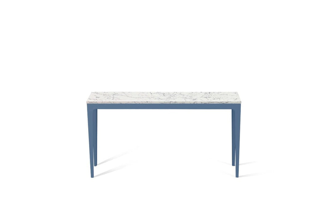 White Attica Slim Console Table Wedgewood