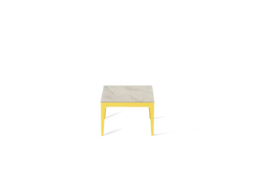 Noble Grey Cube Side Table Lemon Yellow