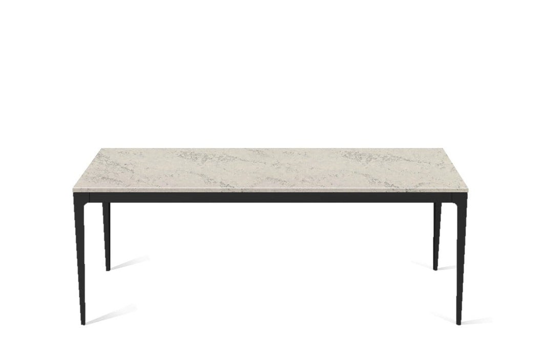 Noble Grey Long Dining Table Matte Black