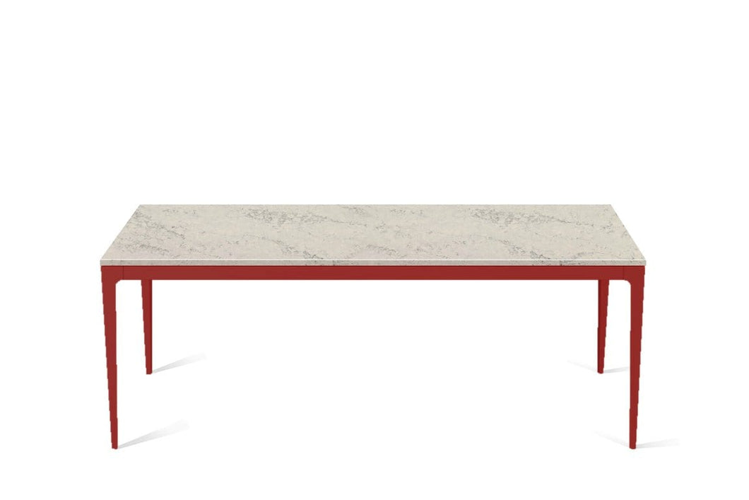 Noble Grey Long Dining Table Flame Red