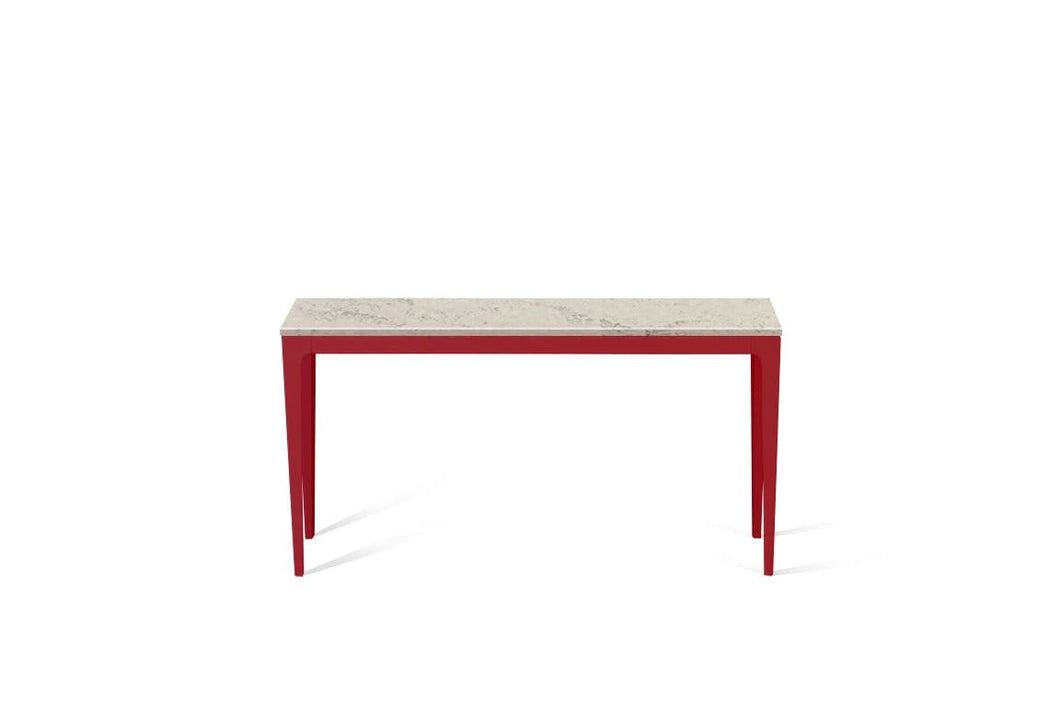 Noble Grey Slim Console Table Flame Red