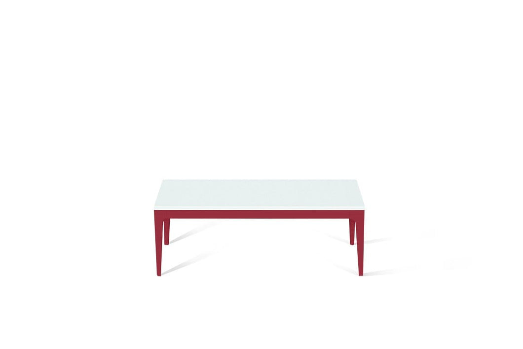 Intense White Coffee Table Flame Red
