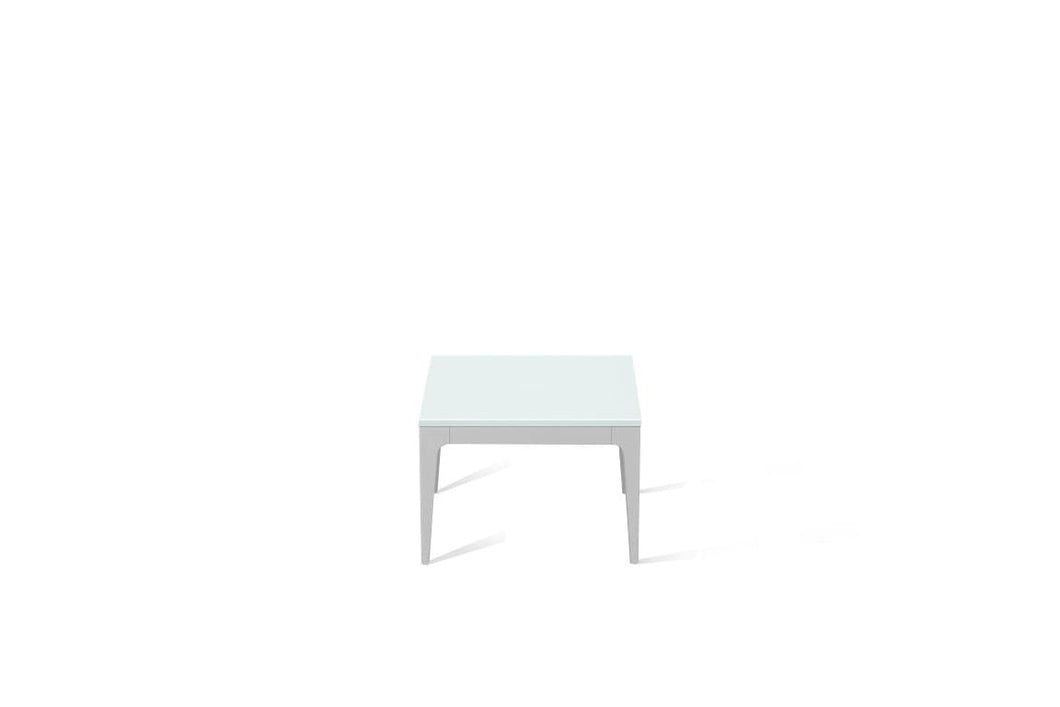 Intense White Cube Side Table Oyster