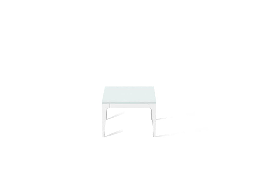 Intense White Cube Side Table Pearl White