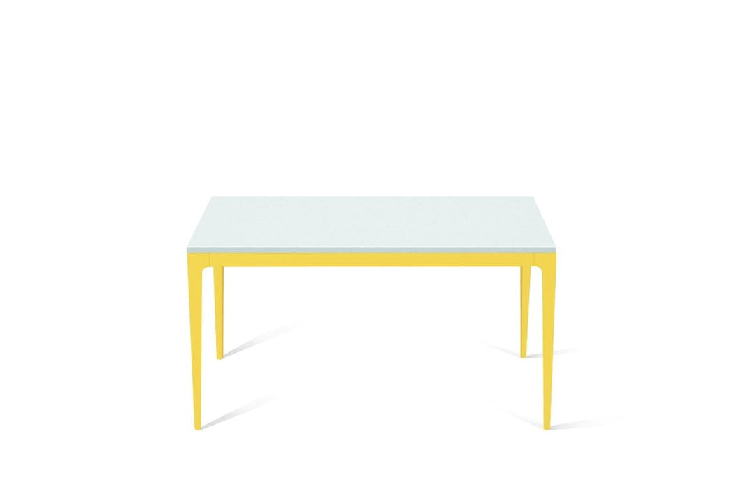 Intense White Standard Dining Table Lemon Yellow