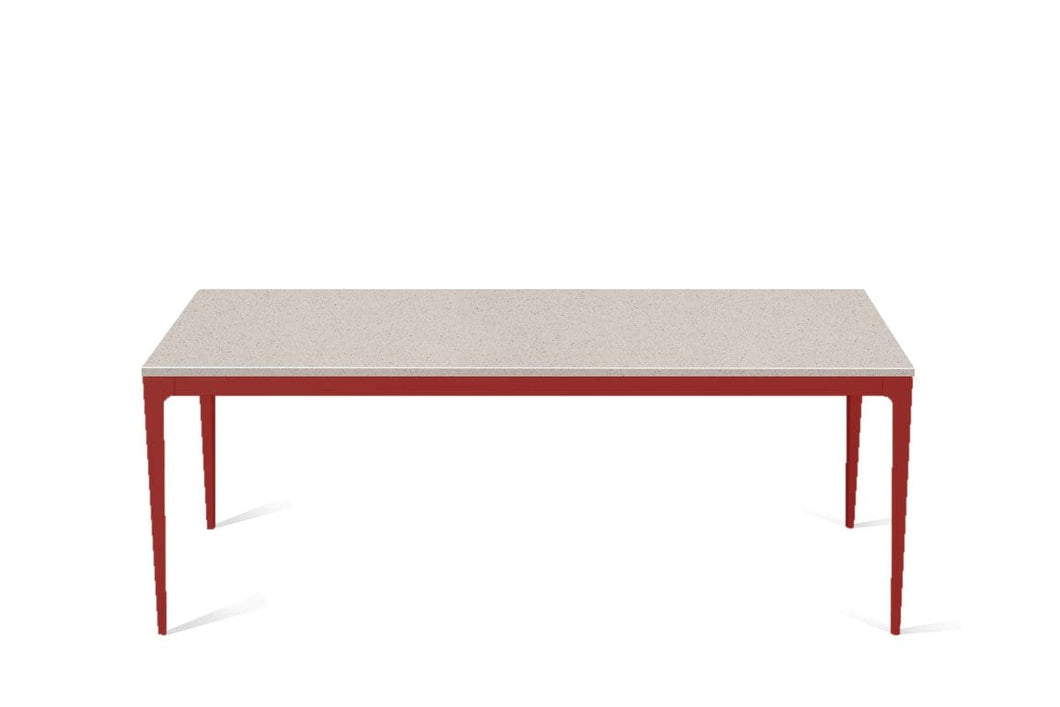 Nordic Loft Long Dining Table Flame Red