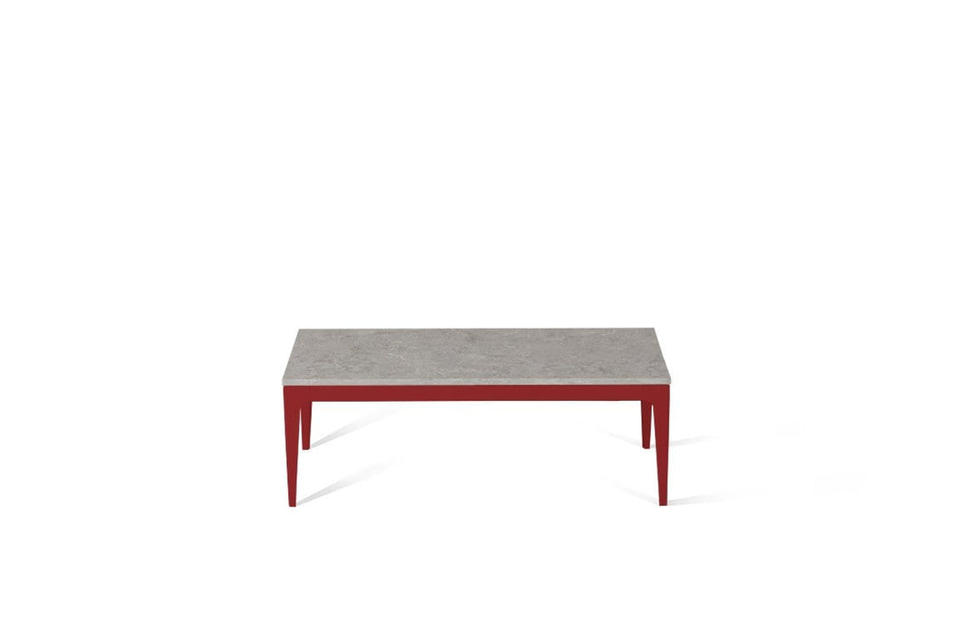 Bianco Drift Coffee Table Flame Red