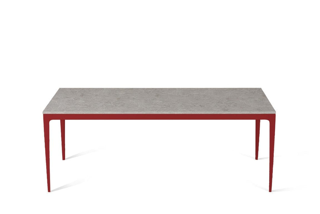 Bianco Drift Long Dining Table Flame Red