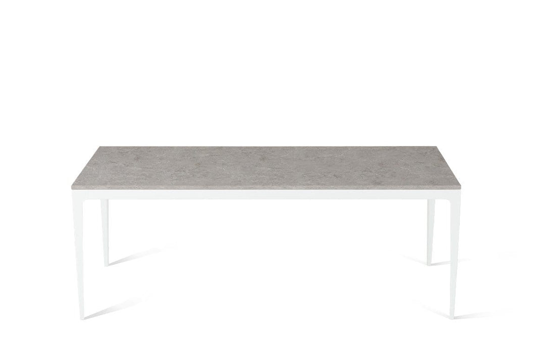 Bianco Drift Long Dining Table Pearl White