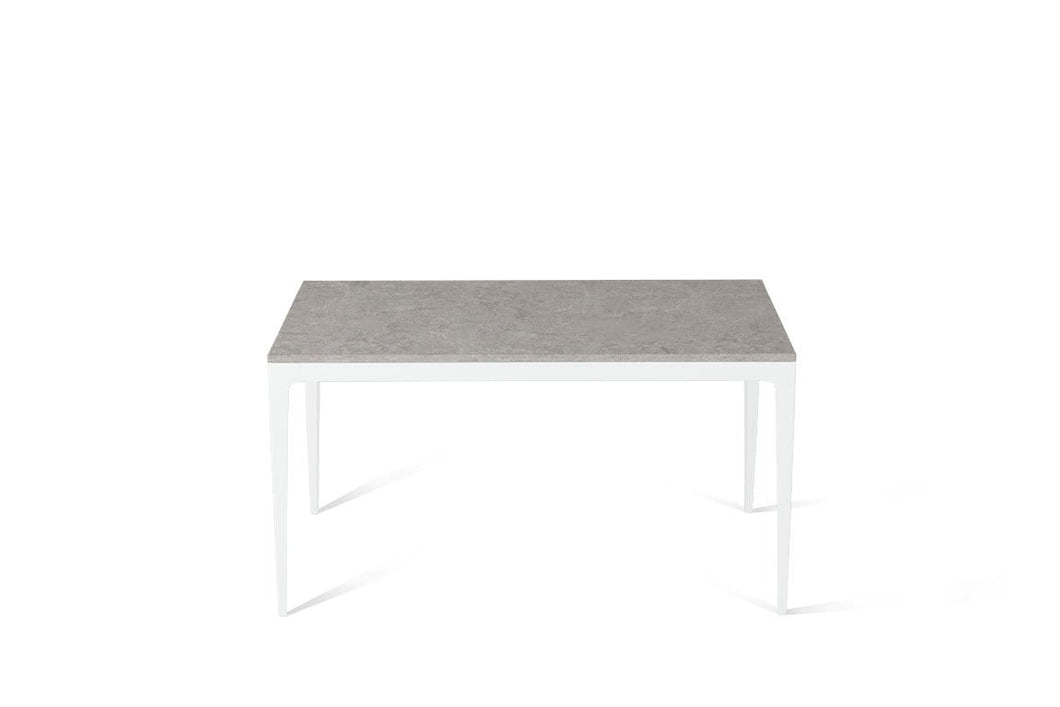 Bianco Drift Standard Dining Table Pearl White