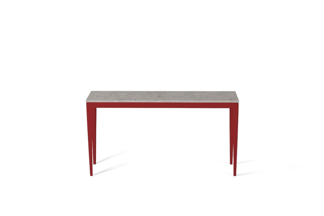 Bianco Drift Slim Console Table Flame Red
