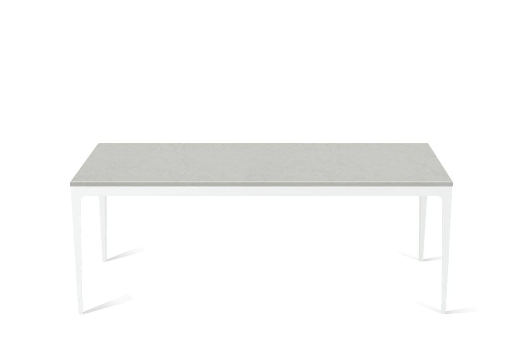 Georgian Bluffs  Long Dining Table Pearl White