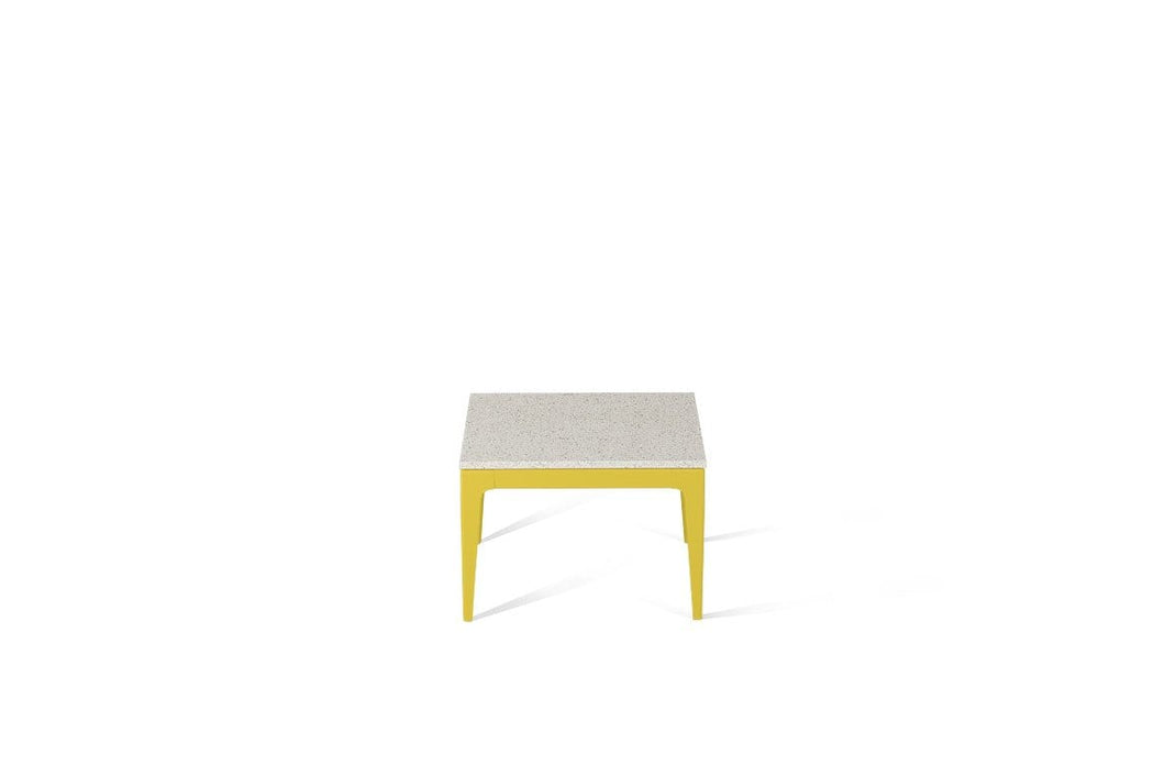 Ocean Foam Cube Side Table Lemon Yellow