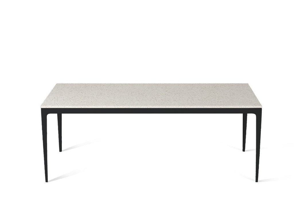 Ocean Foam Long Dining Table Matte Black