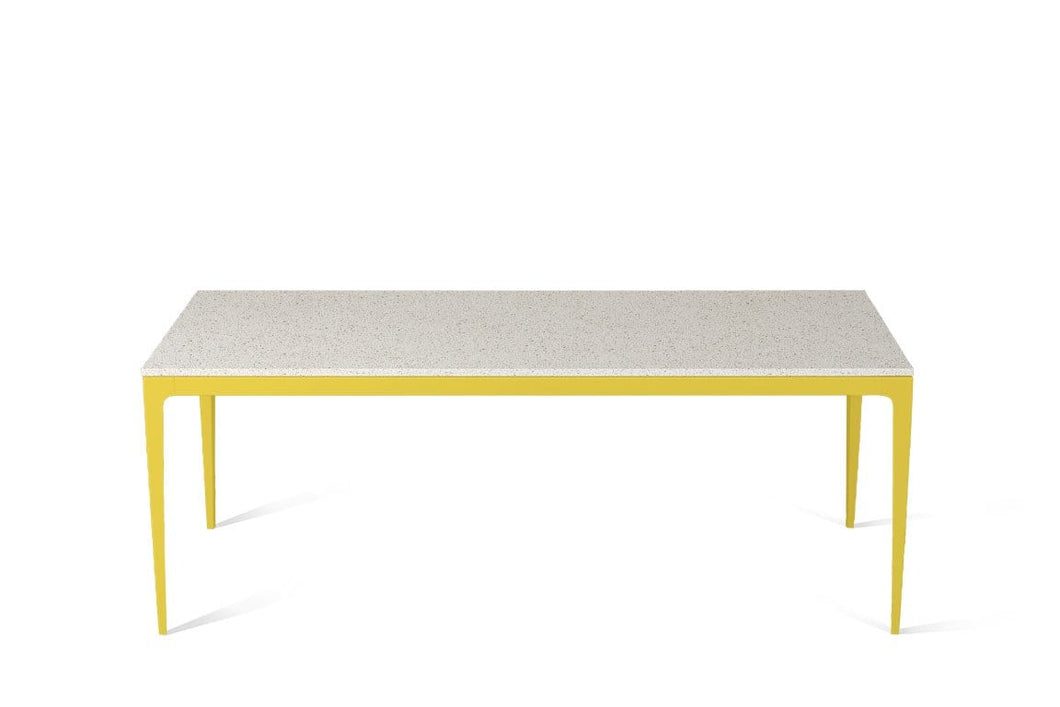 Ocean Foam Long Dining Table Lemon Yellow