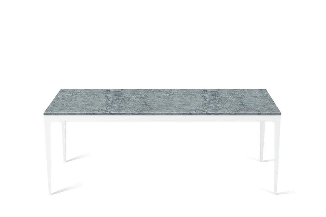 Turbine Grey Long Dining Table Pearl White
