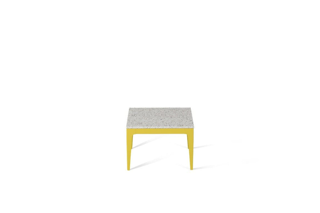 Nougat Cube Side Table Lemon Yellow