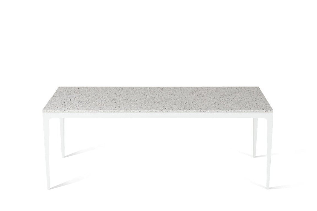 Nougat Long Dining Table Pearl White